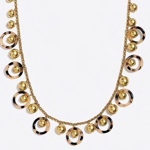 J Crew tortoise circle necklace